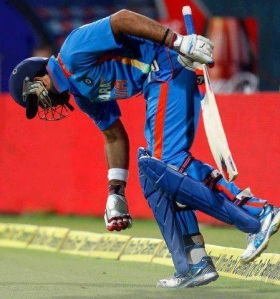 Yuvraj Singh's return to the cricket field!